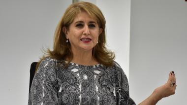 La agente especial de Electricaribe, Ángela Rojas Combariza.