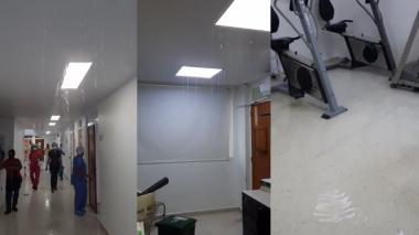 En video   Hospital de San Andrés: sin UCI e inundado