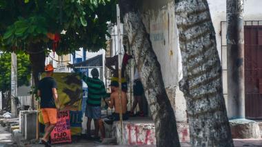 Lugar del barrio San Roque donde fue el crimen.