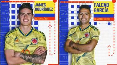 James y Falcao lideran convocatoria para debut de Colombia en eliminatorias