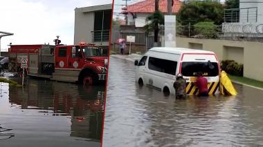 Inundaciones en Villa Campestre tras aguacero de este viernes