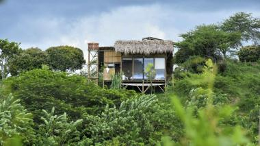 Esta es una de las cuatro cabañas que están habilitadas para los huéspedes en Ankua Ecohotel, ubicado en el municipio de Usiacurí.