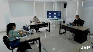 Alias Joaquín Gómez rinde versión ante la JEP sobre reclutamiento de menores