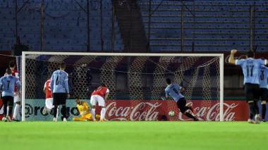 El penalti ejecutado por Luis Suárez fue el primer gol de Uruguay ante Chile.