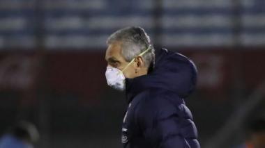 """Reinaldo Rueda se quedó """"sin palabras"""" cuando le preguntaron por el árbitro"""