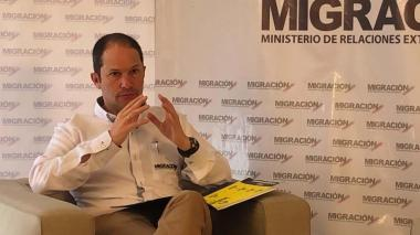 Juan F. Espinosa, director de Migración Colombia.