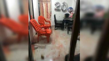 Lugar donde se registró el atentado sicarial la noche del viernes en Soledad.