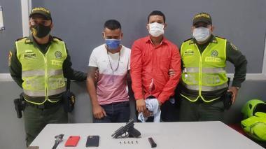 Breiner Manuel Gutiérrez y Erick Yaseth preciado Chaparro, capturados.