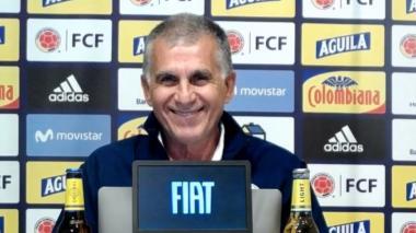 Carlos Queiroz mostró su sonrisa cuando fue interrogado sobre lo que contó Luis Fernando Muriel.