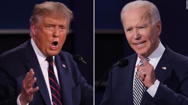 Trump y Biden compiten en tertulias separadas en lugar de debate