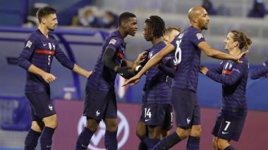 Los franceses vencieron a Croacia en el duelo que revivió la final del Mundial de Rusia 2018.