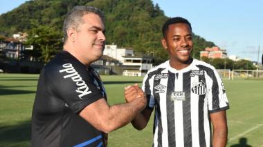 Robinho había sido anunciado como nuevo fichaje del Santos de Brasil.