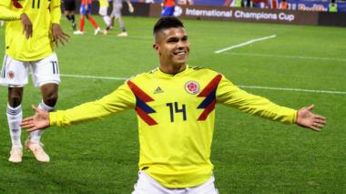 Juan Camilo Hernández debutó con la Selección Colombia Absoluta ante Costa Rica.