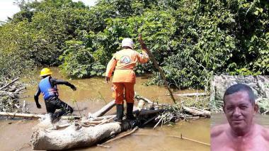 Suspendieron la búsqueda del bañista arrastrado por el río Frío