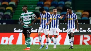 Mateus Uribe y Luis Díaz fueron titulares en el empate entre Porto y Sporting de Lisboa.