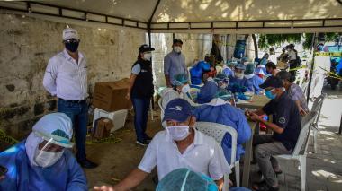 Distrito continúa búsqueda activa de casos Covid en localidades