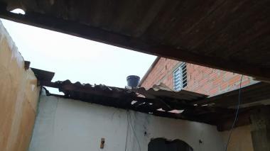 Aguacero causó estragos en Ciénaga, Magdalena