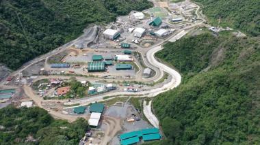Vista aérea de la mina Buriticá en Antioquia.