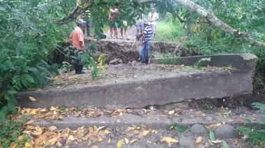 Colapso de un puente incomunica a comunidades indígenas de Sampués