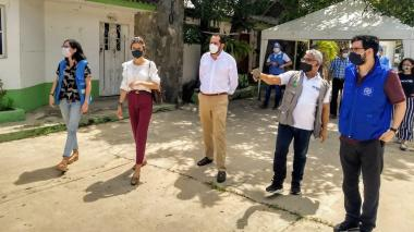 Parte del equipo de la Gerencia de Fronteras que visitó Barranquilla.