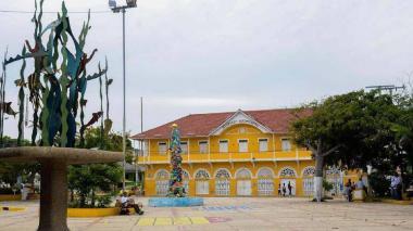 Zona céntrica del municipio de Puerto Colombia.