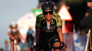 Esteban Chaves cerró la octava etapa en la novena casilla.