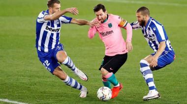Griezmann anota, pero el Barça no puede frente a un Alavés con diez