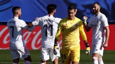 Hazard despierta y marca gol en triunfo 4-1 del Real Madrid sobre Huesca