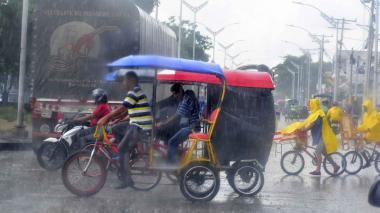 El huracán favorece precipitaciones en la Costa, según el pronóstico del Ideam.