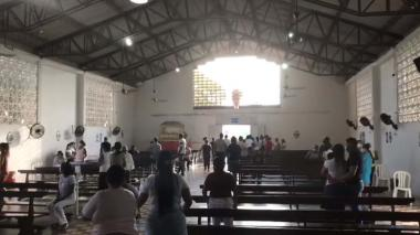 Atentado a bala en una iglesia del barrio El Bosque