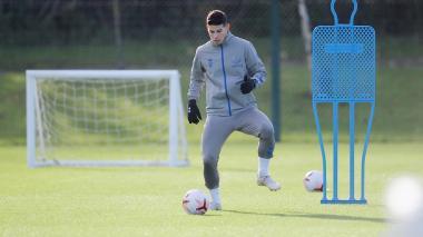 James Rodríguez regresó a entrenamientos tras perderse la última jornada de Premier League.