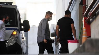 Matías Morla, abogado de Diego Maradona, llega a la clínica a visita a excrack argentino.