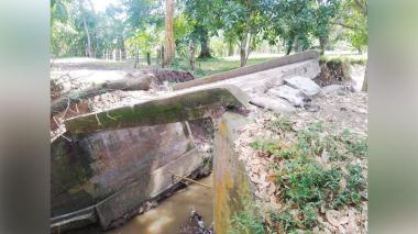 La comunidad indígena de Sampués reclama un puente nuevo