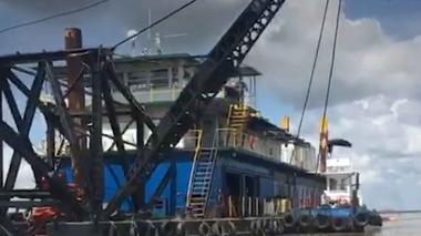 44.048 metros cúbicos de sedimento han removido en dragado de isla Tamarindo
