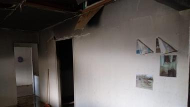 Incendio consume una casa del adulto mayor en Santa Marta