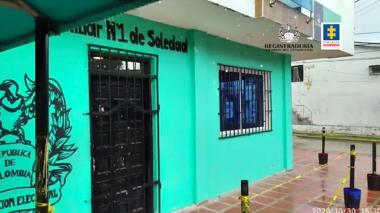 Fachada de las oficinas de la Registraduría primera auxiliar de Soledad.