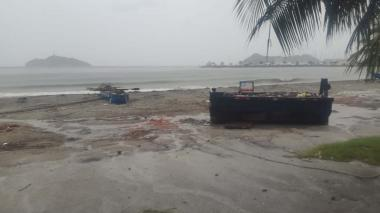 Cierran playas y ríos en Santa Marta por tormenta tropical Iota