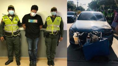 Capturado tras arrollar con su auto a vendedor de tinto al norte de B/quilla