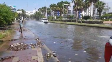 """En video   Iota sigue afectando a Cartagena con """"mar de fondo"""""""