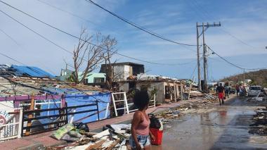 El ministro de Vivienda confirmó que hay una afectación en el 100% de las casas de la isla de Providencia.