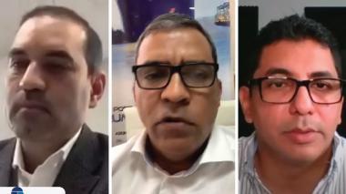 Pedro Pablo Jurado, director de Cormagdalena, José Curvelo, asesor de asuntos portuarios del Distrito y Humberto Ávila, docente de Uninorte.