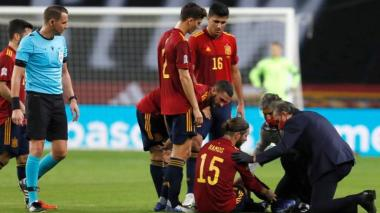 Sergio Ramos deberá estar diez días de baja por lesión