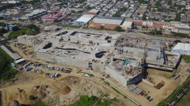 Vista panorámica de la obra de Parque Alegra.