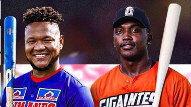 Harold Ramírez, grandesligas de Caimanes, y Andy Vásquez, figura de Gigantes.