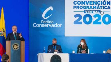 Yo sé que nos quedan 22 meses de Gobierno: Duque pide apoyo a Conservadores