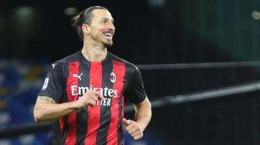 Zlatan es el goleador de la liga italiana con diez goles, dos más que Cristiano Ronaldo.