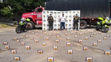 Capturado con 70 kilos de cocaína en vía a Aguachica
