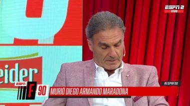 En video | Así reaccionó Óscar Ruggeri ante la muerte de Maradona