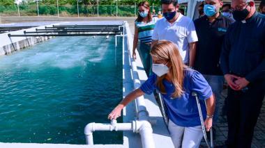 Inauguran Planta de Tratamiento de Agua Residual en Galapa