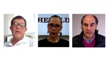 Ricardo Gaviria, presidente de Cerro Matoso; Erika Fontalvo, directora de EL HERALDO Y Juan Camilo Nariño, presidente de la Asociación Colombiana de Minería.